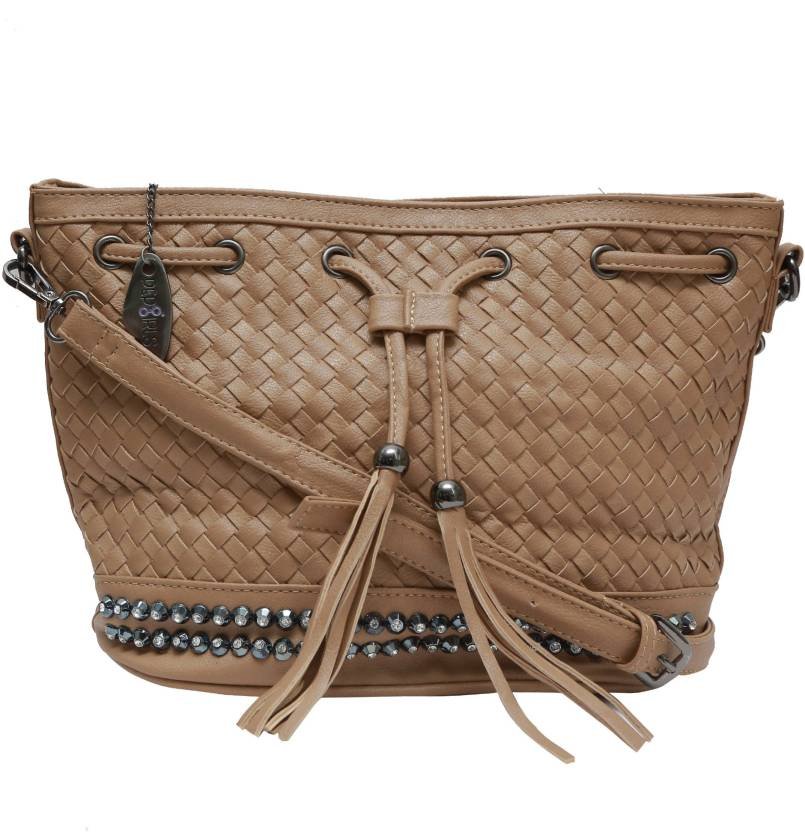 29086772b3a Pepgirls Women Casual Brown Leatherette Sling Bag Brown - Price in India