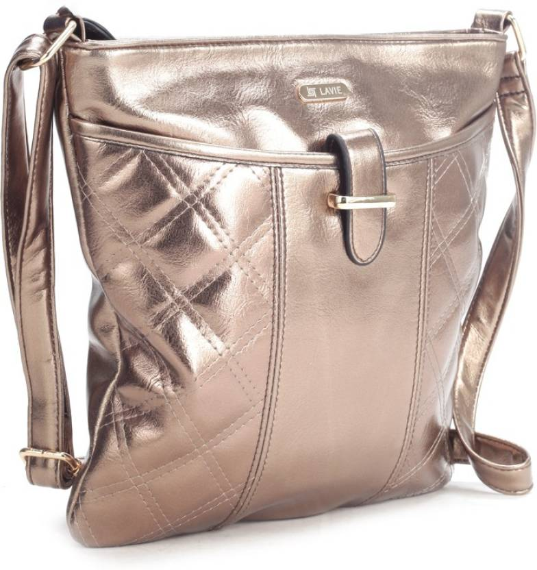 a3f0337a2 Lavie Women Casual Gold Leatherette Sling Bag COPPER - Price in India