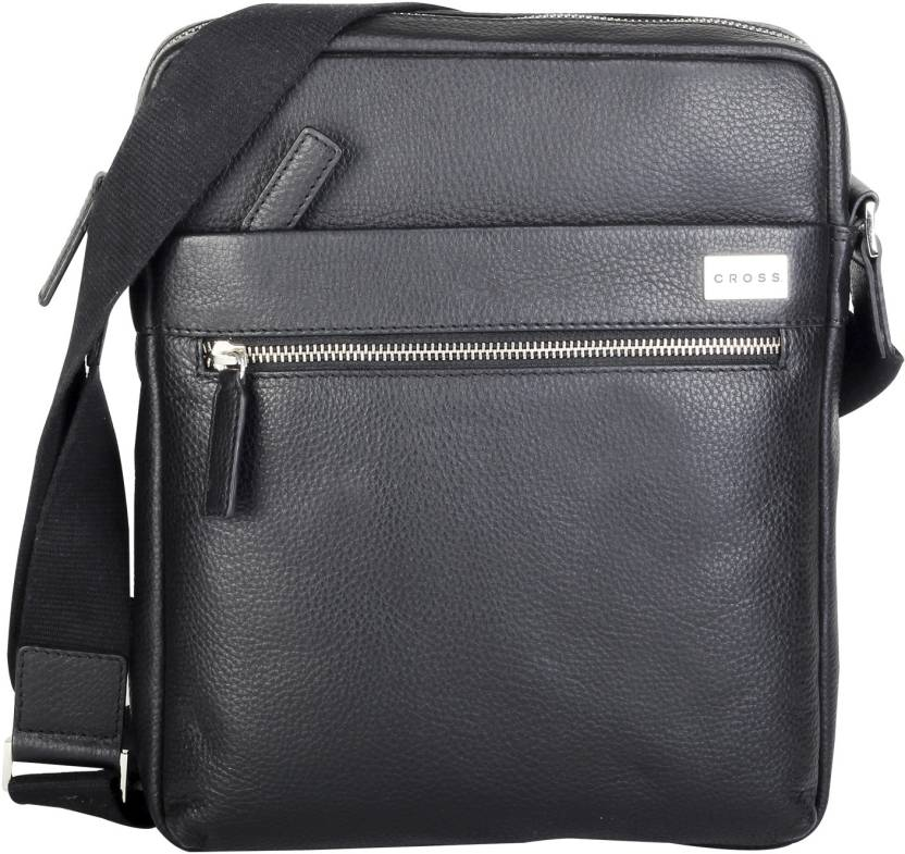 Cross Men Black Genuine Leather Sling Bag Black - Price in India ... 593c32ca134e8