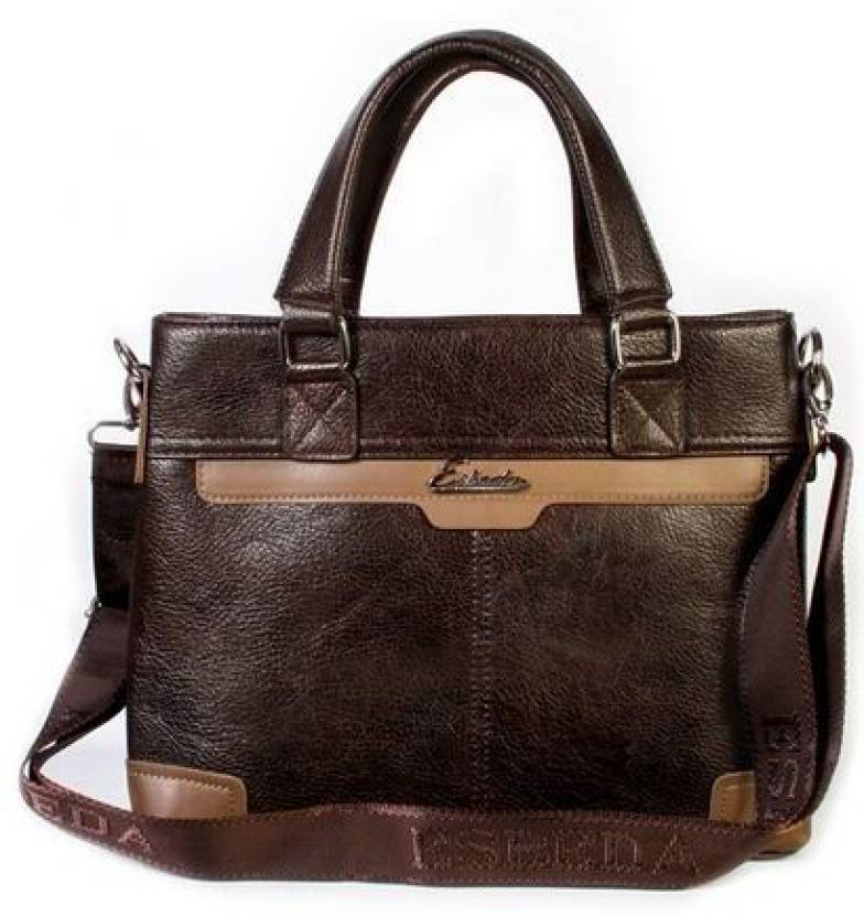 Esbeda Men Formal Brown Pu Sling Bag