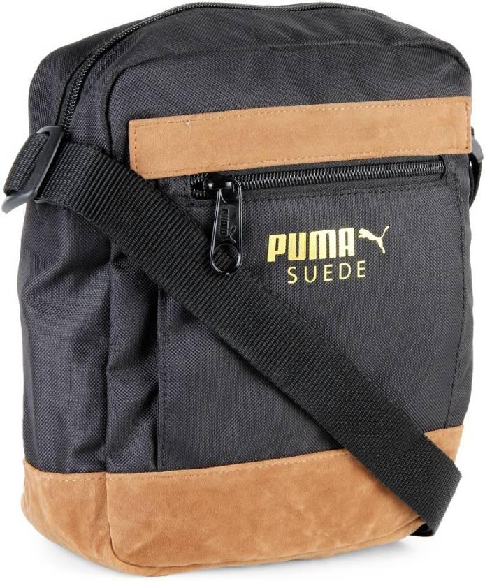 Puma Men Casual Black Brown Sling Bag Black Price In India