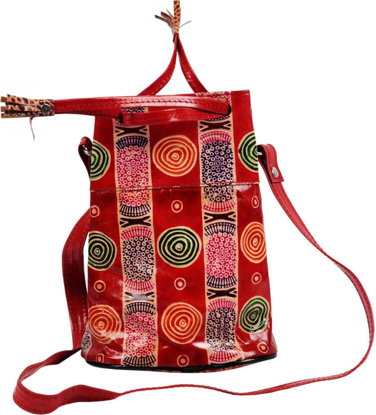 f0cbbb695f ZINT Women Red Genuine Leather Sling Bag Red - Price in India ...