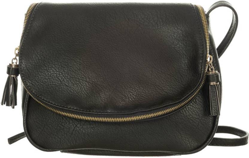 ad403a4d4f8 Di Grazia Women Black Genuine Leather Sling Bag