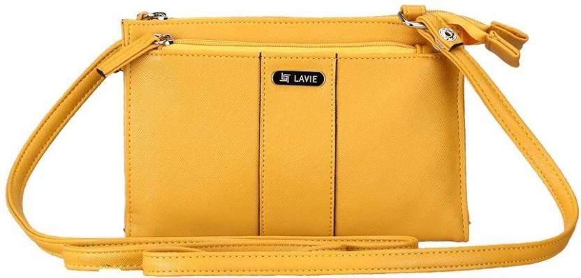 24b27cf27 Lavie Women Casual Yellow Leatherette Sling Bag OCHER - Price in India