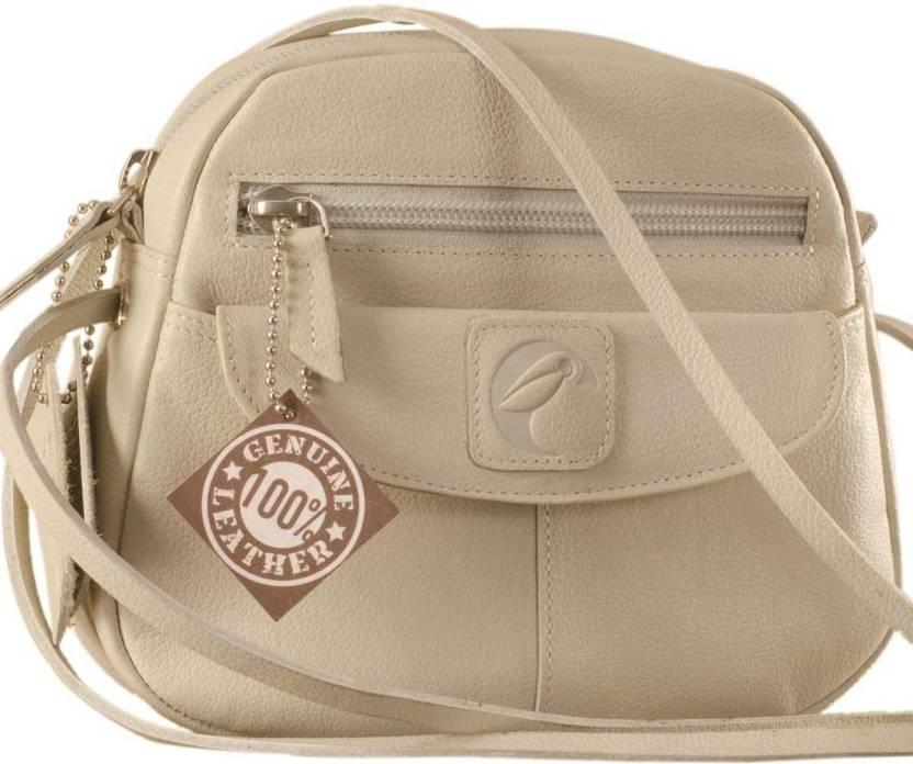 eZeeBags Women Casual Grey Genuine Leather Sling Bag Pearl - Price in India    Flipkart.com 31399e0288