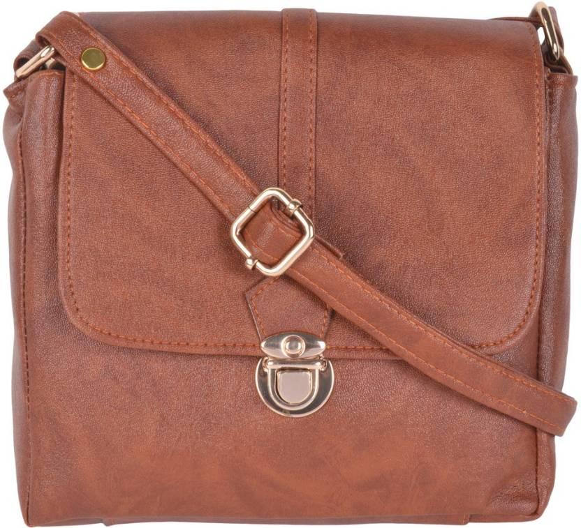 Kleio Women Formal Brown PU Sling Bag. Chimera Men Women Formal Sling Sling Bags  Black Leather Women Leather Bag Style cb6772cbc8280