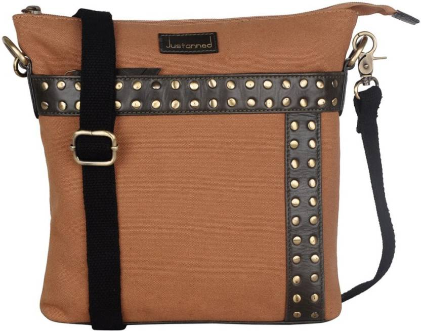 ab3bc60ed0 Justanned Men Casual Tan Genuine Leather Messenger Bag Tan-03 - Price in  India