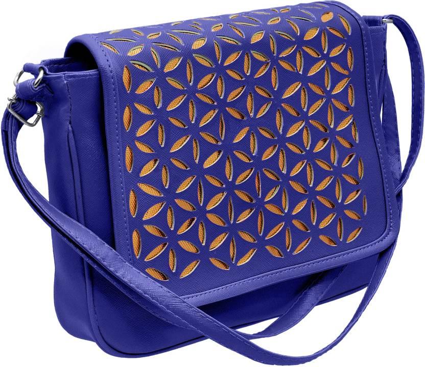 0a1d087ca59 Tap Fashion Girls Casual Blue PU Sling Bag
