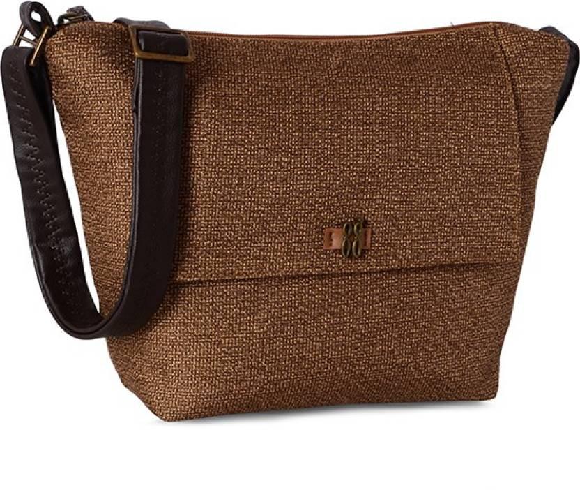 Baggit Women Brown Cotton Sling Bag