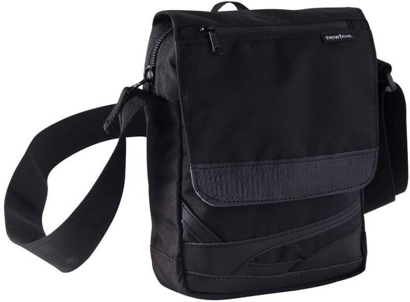 NewFeel Men   Women Black Polyester Sling Bag BLACK - Price in India ... f93c9312244b0