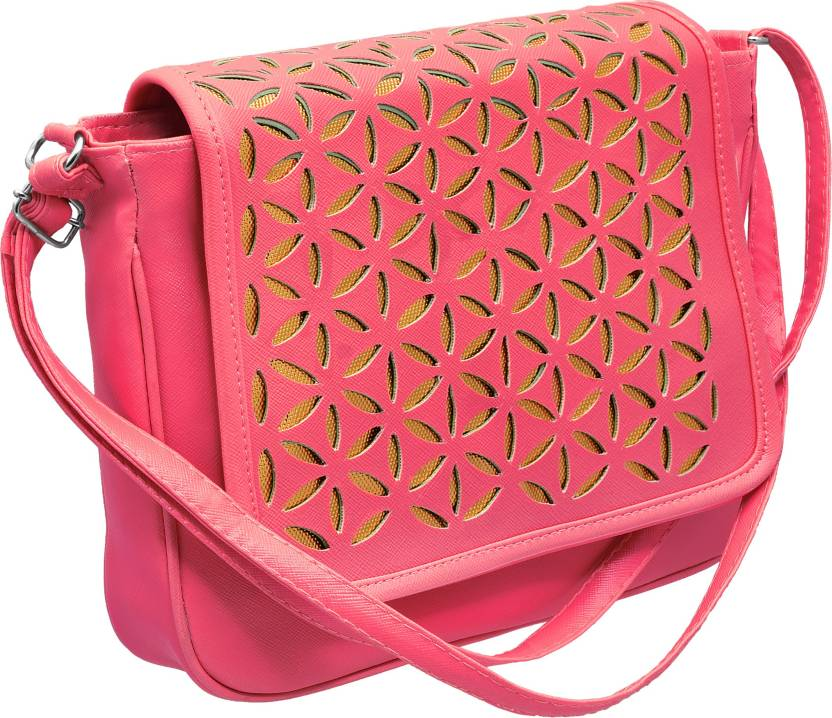 tap fashion Girls Casual Pink PU Sling Bag Hot Pink - Price in India ... 10e358810e48e