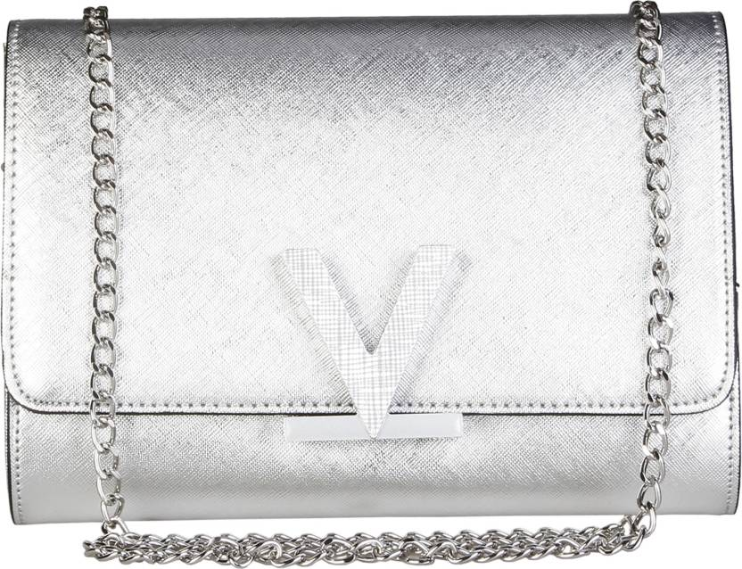86a1c7b57e MARIO VALENTINO Women Evening/Party Silver Genuine Leather Sling Bag Silver  - Price in India | Flipkart.com