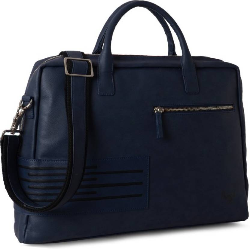 Baggit Men Casual Blue Leatherette Sling Bag