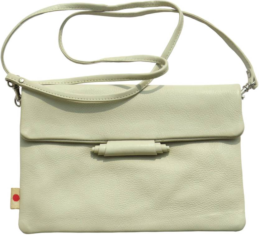 6c73e78dae28 Bhoomija Women Casual White Genuine Leather Sling Bag White - Price in  India