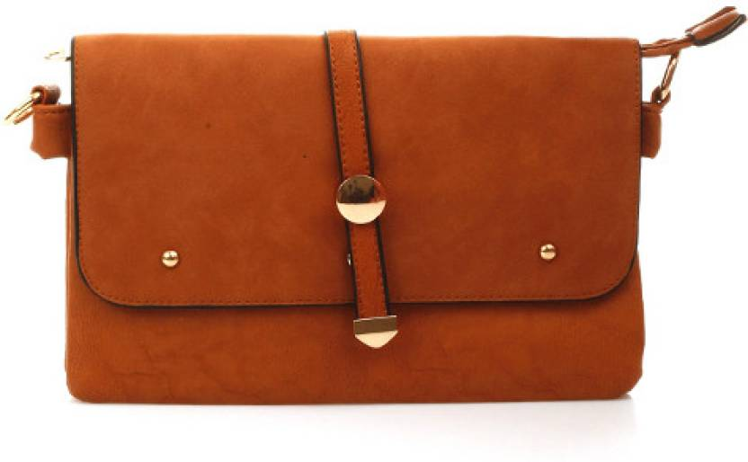 c6250c69c127f9 Ella Women Casual Brown PU Sling Bag Brown - Price in India ...