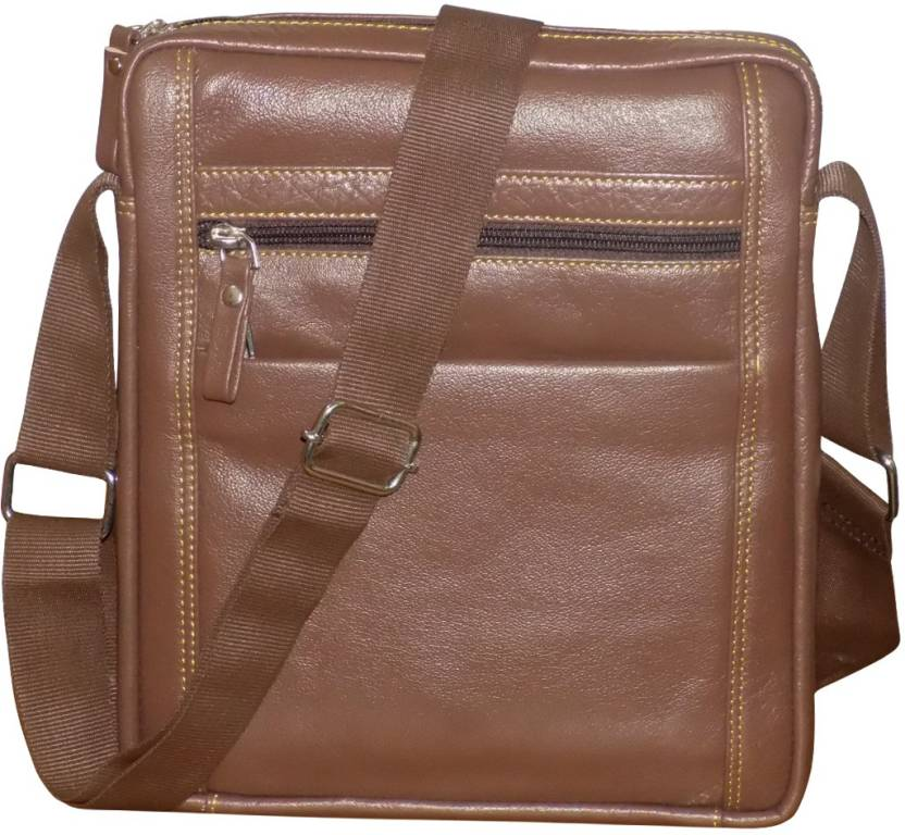 be9a149a99 Style 98 Men   Women Casual Brown Genuine Leather Messenger Bag Brown -  Price in India