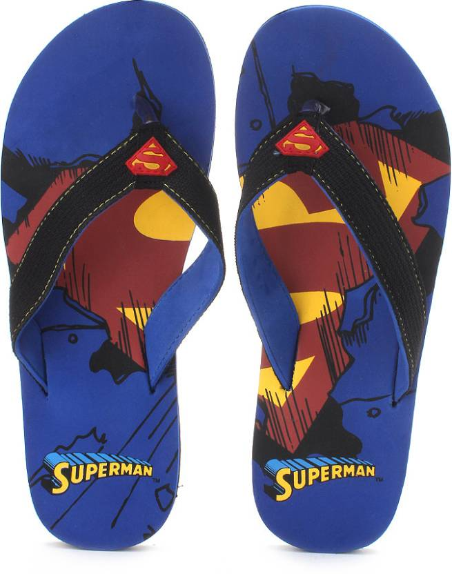 Superman Superman Shield Print Flip Flops low price