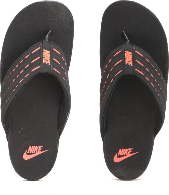 233ed20b6da Nike KEESO THONG Slippers - Buy BLACK TOTAL CRIMSON Color Nike KEESO THONG  Slippers Online at Best Price - Shop Online for Footwears in India