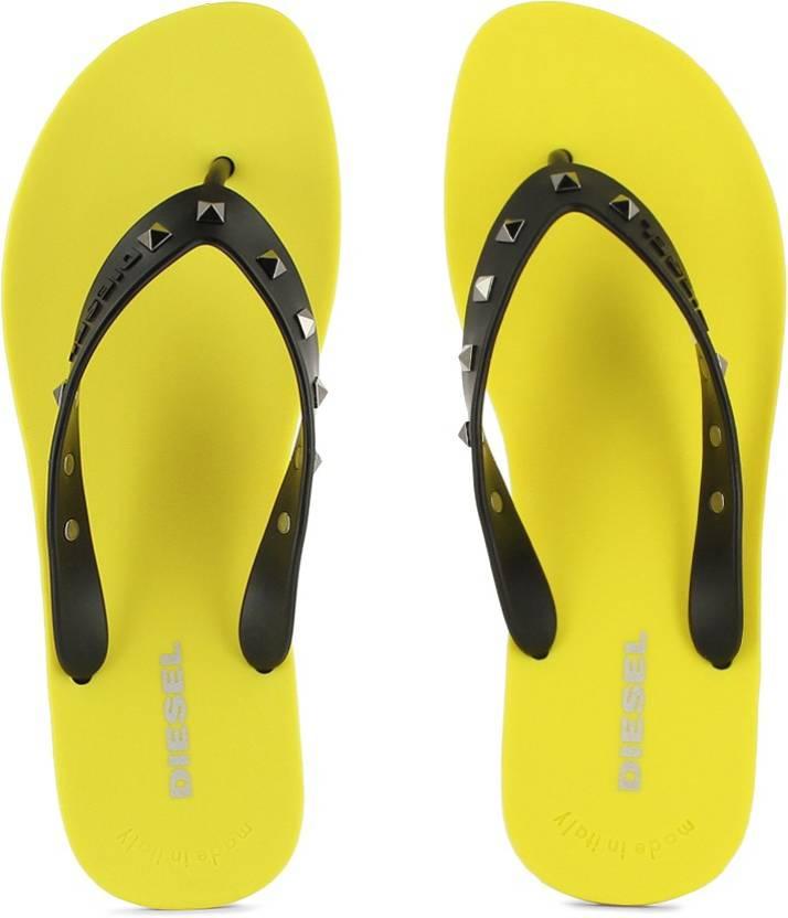 ade2d9eb0 Diesel Plaja Splish Slippers - Buy Empire Yellow