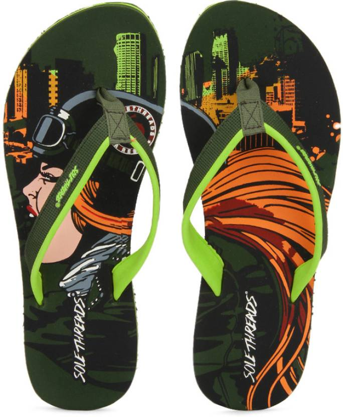 0cd93d6e0b019 Sole Threads Biker Chick Women Flip Flops - Buy Olive