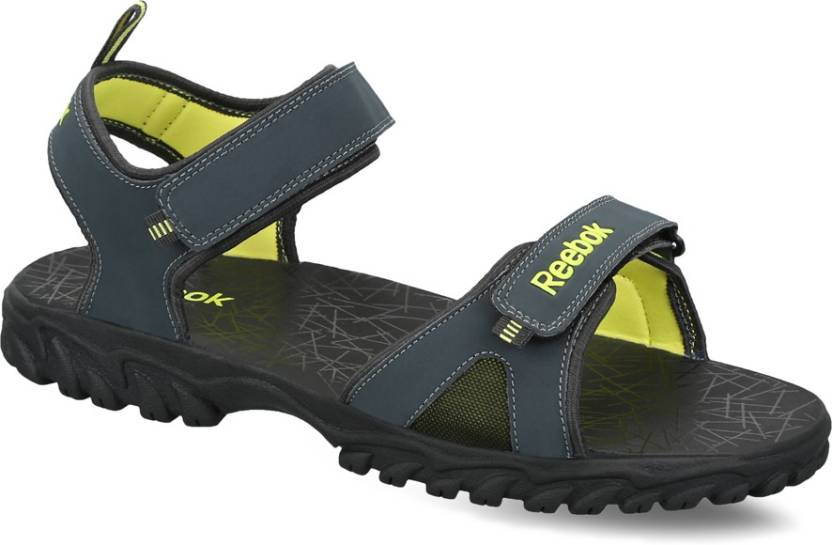 fc7df7cd0f43 REEBOK Men GRAVEL SOLAR GREEN BLK Sports Sandals - Buy GRAVEL SOLAR ...