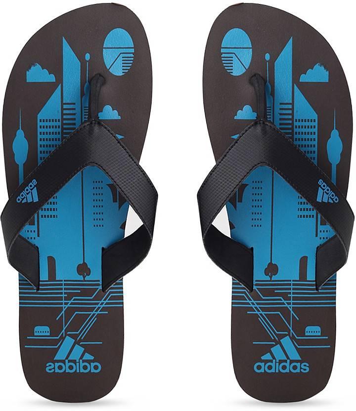 6d3617b7b ADIDAS BEACH PRINT MAX OUT MEN Slippers - Buy ESPRES SOLBLU BLACK Color ADIDAS  BEACH PRINT MAX OUT MEN Slippers Online at Best Price - Shop Online for ...