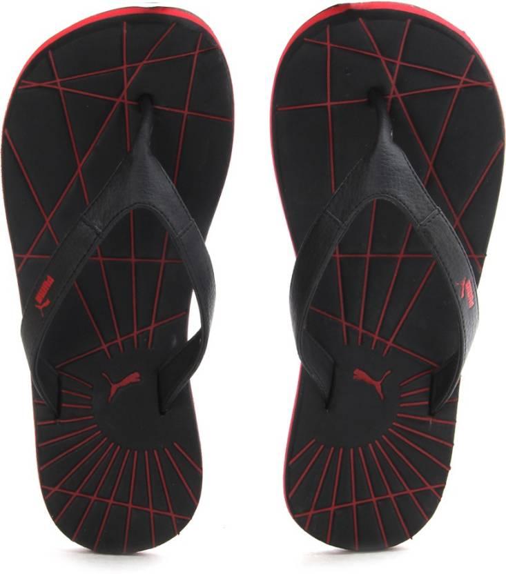7de06a43fe8c Puma Webster DP 2 Slippers - Buy black-high risk red Color Puma Webster DP  2 Slippers Online at Best Price - Shop Online for Footwears in India