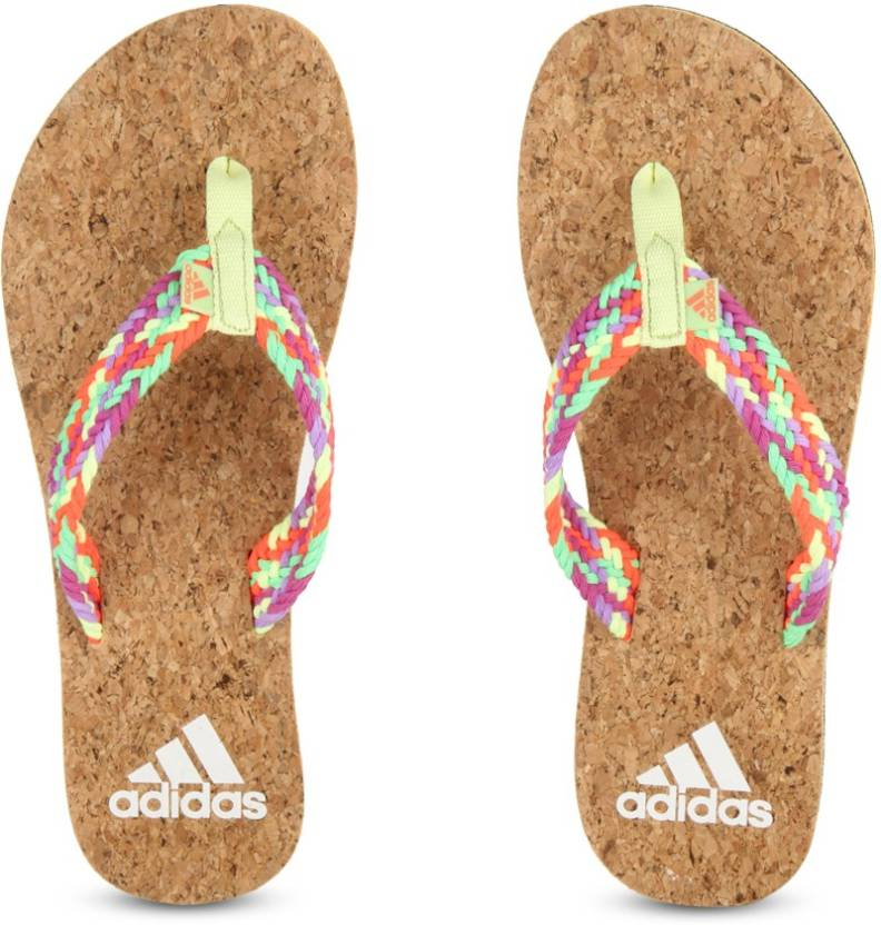 ea714908732f11 ADIDAS BEACH CORK W Slippers - Buy LTFLYE LTFLRE LUCPNK Color ADIDAS BEACH  CORK W Slippers Online at Best Price - Shop Online for Footwears in India  ...