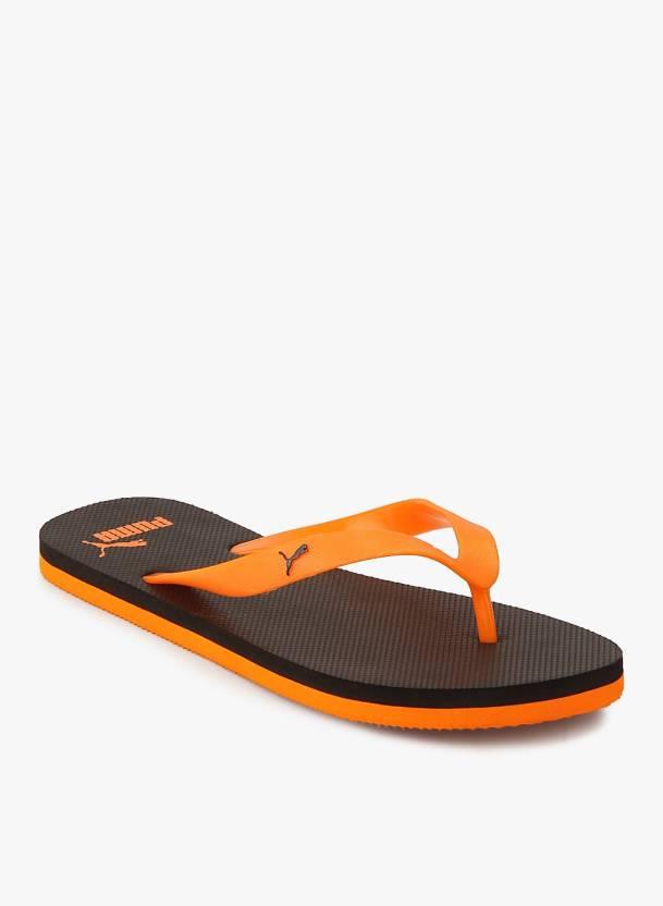Puma Odius DP Flip Flops - Buy Puma Black-Vibrant Orange Color Puma Odius  DP Flip Flops Online at Best Price - Shop Online for Footwears in India ... d7ea85180