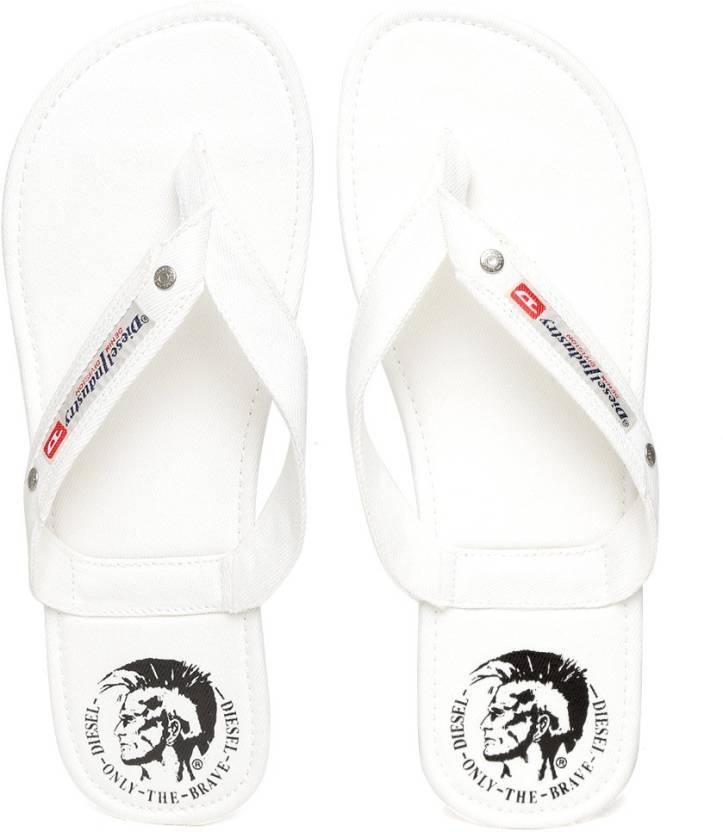 80c668ea3814 Diesel Flip Flops - Buy Off White Color Diesel Flip Flops Online at Best  Price - Shop Online for Footwears in India