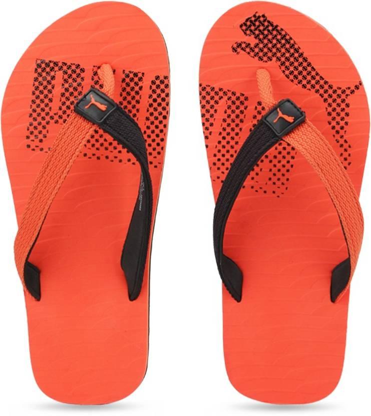 e4530813a604 Puma Miami Fashion II DP Slippers - Buy Puma Black-Vibrant Orange Color Puma  Miami Fashion II DP Slippers Online at Best Price - Shop Online for  Footwears ...
