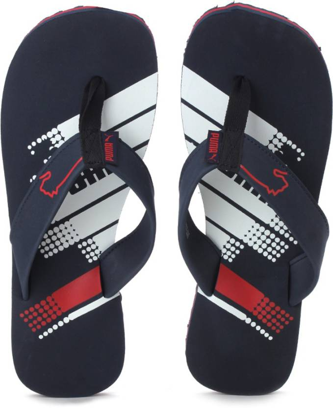 6cab8eee9a83 Puma Dilute IDP Slippers - Buy Puma New Navy-Puma White-High Risk Red Color  Puma Dilute IDP Slippers Online at Best Price - Shop Online for Footwears  in ...