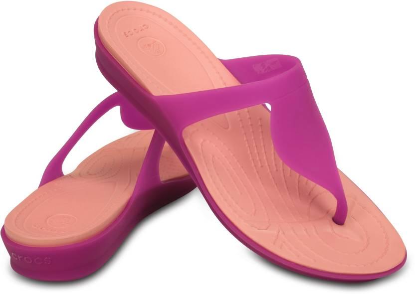 7efc7a53ac57 Crocs Crocs Rio Flip Flops - Buy Vibrant Violet Melon Color Crocs Crocs Rio  Flip Flops Online at Best Price - Shop Online for Footwears in India