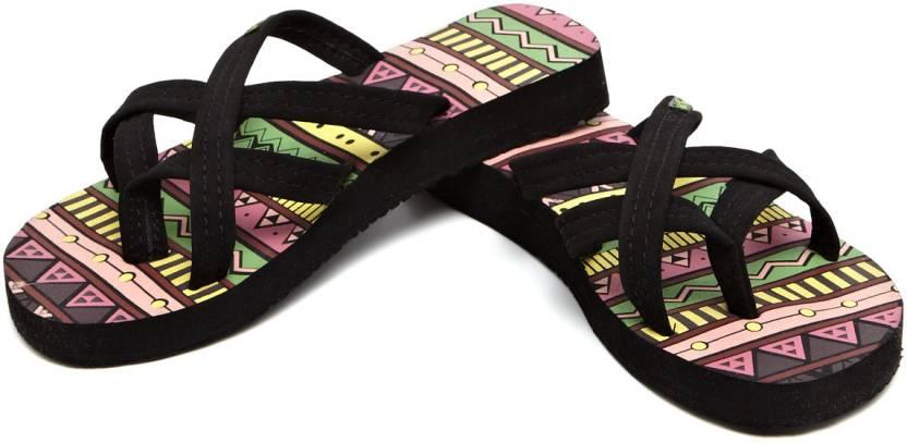 Sole Threads Aztec Print Criss ? Cross Flip Flops