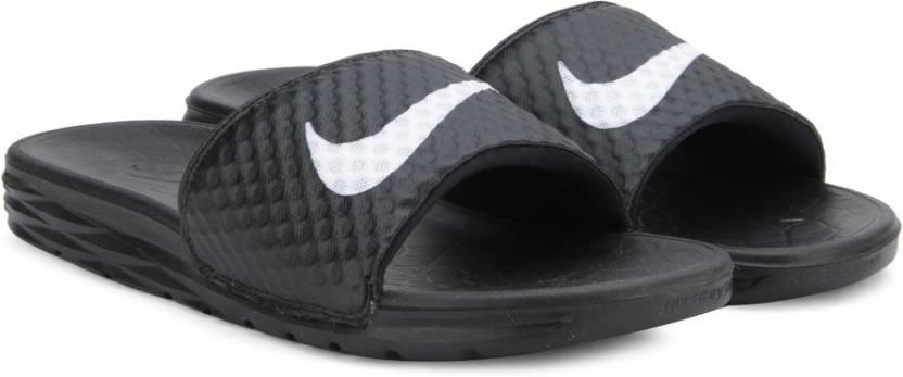 694872c6b898 Nike BENASSI SOLARSOFT Slides - Buy BLACK WHITE Color Nike BENASSI ...