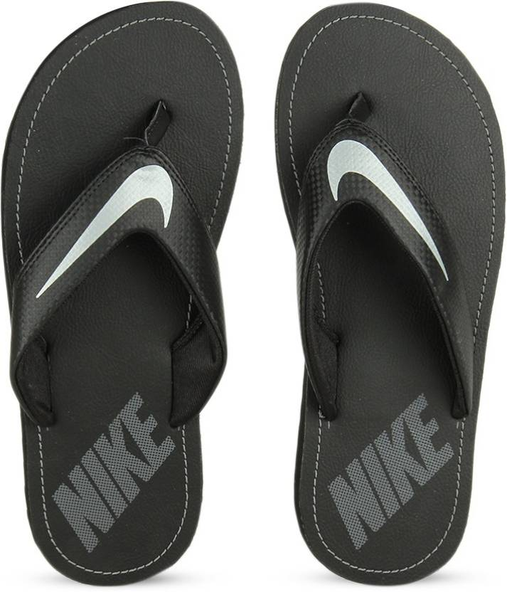9156a6b3e32ac Nike CHROMA THONG 4 Slippers - Buy BLACK   CHROME - DARK GREY Color Nike  CHROMA THONG 4 Slippers Online at Best Price - Shop Online for Footwears in  India ...