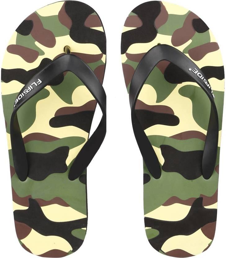 942a66addfe Flipside Flip Flops - Buy Army Black Color Flipside Flip Flops Online at  Best Price - Shop Online for Footwears in India