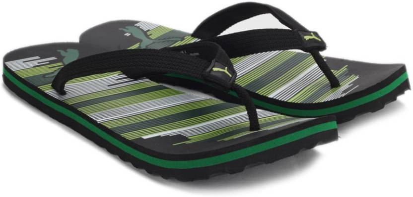 24dccc0d842f Puma Beach IDP Slippers - Buy Puma Black-Sharp Green-Amazon Green Color Puma  Beach IDP Slippers Online at Best Price - Shop Online for Footwears in India  ...