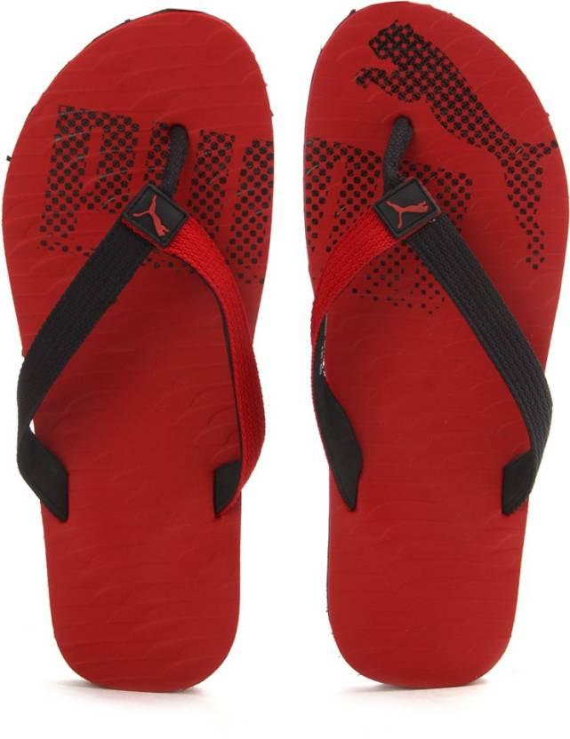 5484ce9e9777 Puma Miami Fashion II DP Flip Flops - Buy black-high risk red Color Puma  Miami Fashion II DP Flip Flops Online at Best Price - Shop Online for  Footwears in ...