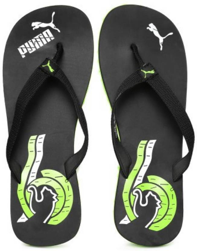 f30cea83f Puma Wave II DP Flip Flops - Buy black-lime punch-limestone gray Color Puma  Wave II DP Flip Flops Online at Best Price - Shop Online for Footwears in  India ...