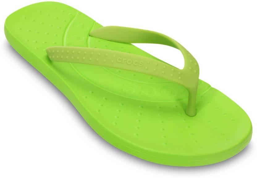 948226f2528f6d Crocs Flip Flops - Buy Volt Green Color Crocs Flip Flops Online at Best  Price - Shop Online for Footwears in India