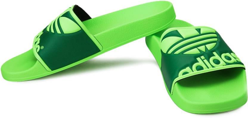 0daa93f8fd230e ADIDAS ORIGINALS Adilette Trefoil Flip Flops - Buy Green Color ADIDAS  ORIGINALS Adilette Trefoil Flip Flops Online at Best Price - Shop Online  for Footwears ...