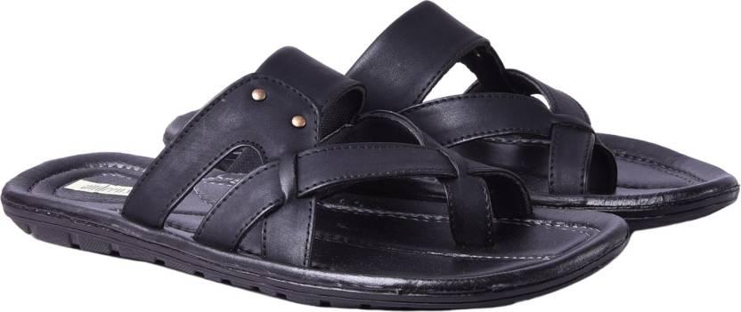 64c2813d3c9c59 Andrew Scott Slippers - Buy Black Color Andrew Scott Slippers Online ...