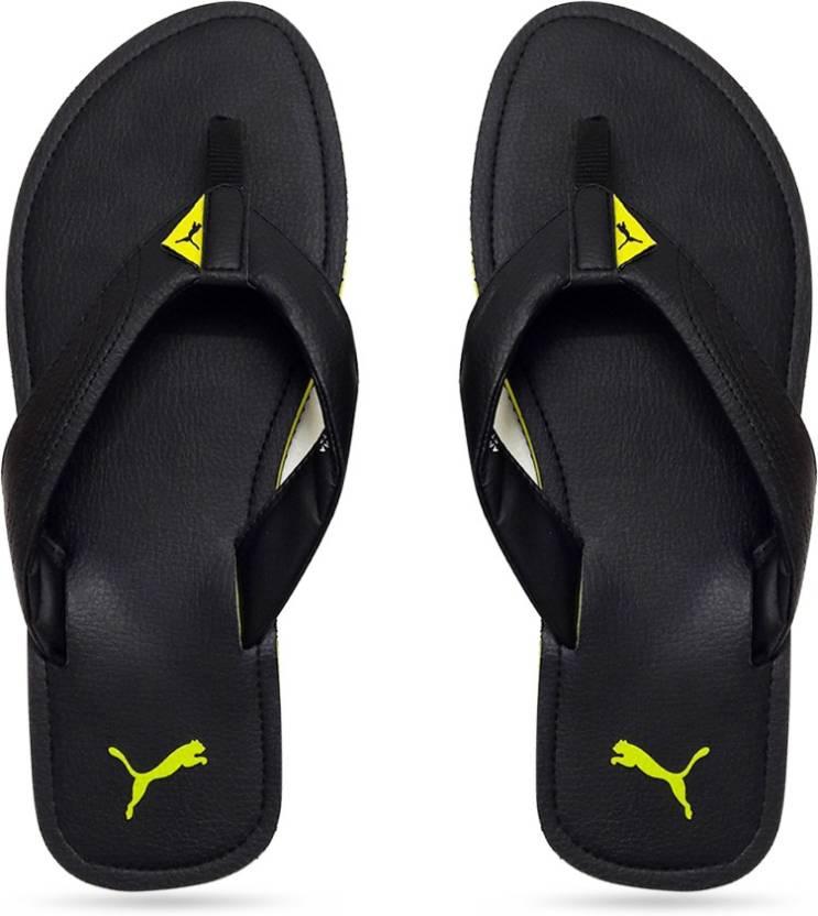 ded224bd97c Puma Ketava III DP Slippers - Buy black-macaw green Color Puma Ketava III DP  Slippers Online at Best Price - Shop Online for Footwears in India
