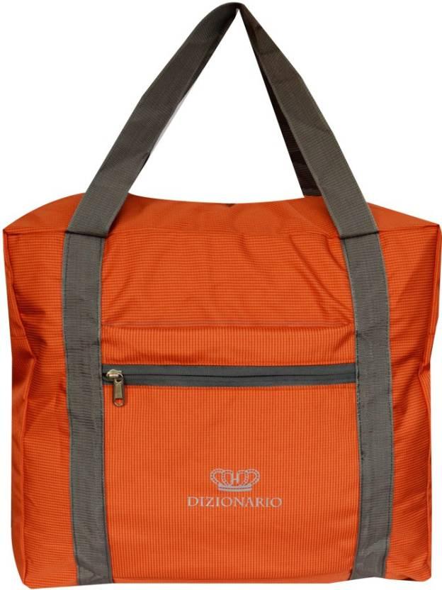 c7ce514026932 DIZIONARIO Folding Flight Cabin Size Compliant Expandable Small Travel Bag  - Medium (Orange)