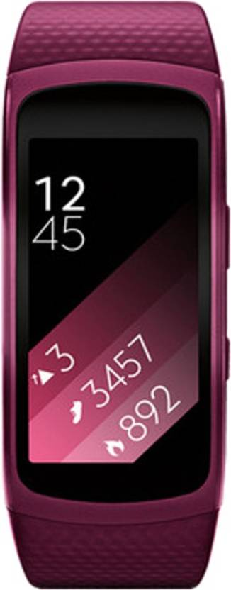 Samsung Gear Fit2 Rs.1,500 Off On Exchange By Flipkart | SAMSUNG Gear Fit 2 Pink Smartband  (Pink Strap L) @ Rs.13,990
