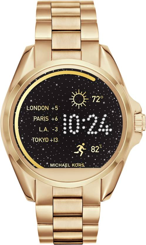 404a8dafc06c Michael Kors Access Bradshaw(For Men   Women) Gold Smartwatch (Gold Strap  Regular)