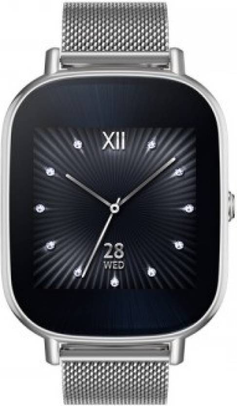 Upto Rs.3000 Off On Asus ZenWatch 2 Starting at Rs.9900 By Flipkart   Asus Zenwatch 2 Silver Case with Metal Strap Silver Smartwatch  (Silver Strap Regular) @ Rs.13,900