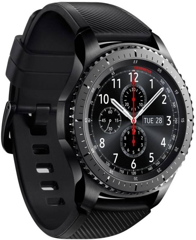 Samsung Gear S3 - Frontier Smartwatch  (Black Strap Regular)