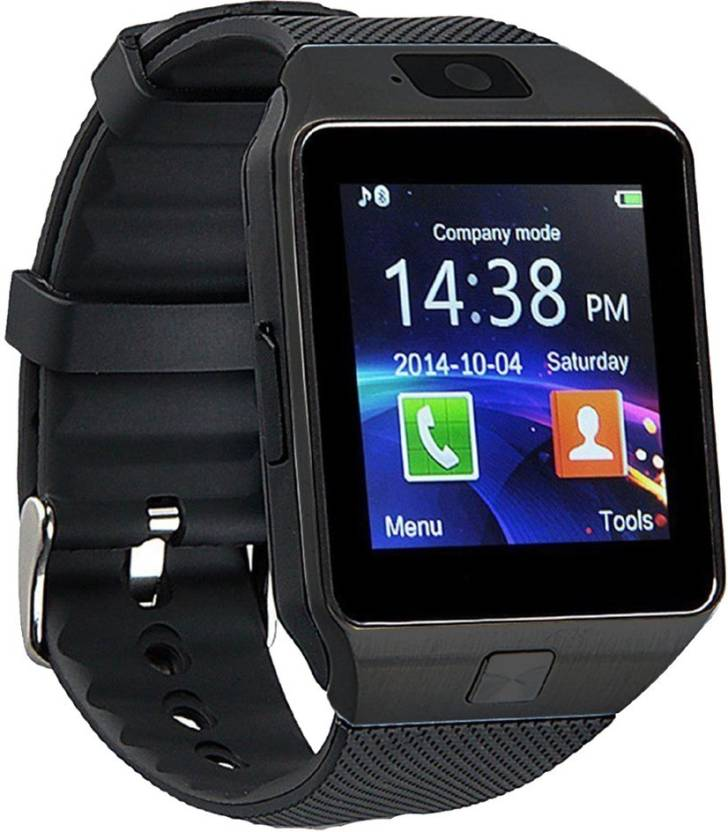 Wokit DZ09-180 Bluetooth with Built-in Sim card and memory card slot Compatible with All Android Mobiles Black Smartwatch